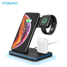 15W Qi Wireless Charger Stand For iPhone 11 Pro X XS MAX XR 8 Fast Charging Dock Station For Apple Watch 5 4 3 2 1 Airpods Pro