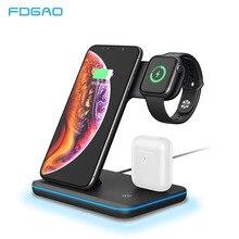 15W Qi kablosuz şarj standı iPhone 11 Pro X XS MAX XR 8 için hızlı şarj Dock İstasyonu apple iphone 5 4 3 2 1 Airpods Pro