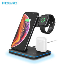15W צ י אלחוטי מטען Stand עבור iPhone 11 פרו X XS MAX XR 8 מהיר טעינת Dock תחנה עבור אפל שעון 5 4 3 2 1 Airpods פרו