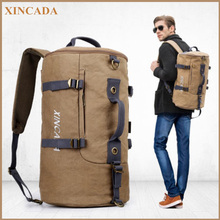 XINCADA  Huge Capacity Canvas Bagpack Men Travel Large Shoulder Bag Pack Europe Design Rucksack Laptop bags