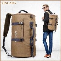 XINCADA Carry on Backpack Keyboard Bag Weekend Bag Duffel Backpack Weekender Bag Canvas Backpack Rucksack Men Travel vintage