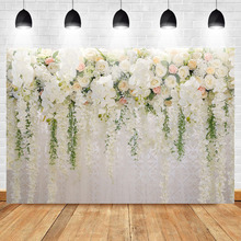 Mehofoto Bridal Shower Backdrop Valentines Day Floral Wall Curtain Wedding Ceremony Photo Booth Backdrops Newborn Background