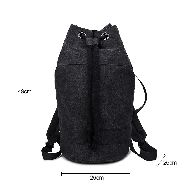 fbf8555196 Aosbos 2019 Durable Canvas Drawstring Backpacks for Women Men Bucket Gym Bag  for Training Outdoor Sport Basketball Storage Bags-in Gym Bags from Sports  ...