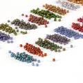 Perlas de vidrio de murano 2MM1000 pcs/lot transparente de color DIY/hecho a mano redondo spacer joyería que hace al por mayor, japonés granos de la semilla