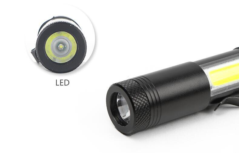 5-10pcs-3800LUMS-Flashlight-COB-Work-Light-Waterproof-Linterna-Rechargeable-Lanterna-by-14500-or-AA-Battery