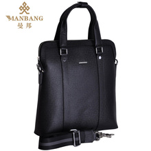 2015 Genuine leather messenger bags for men Luxury Brand Cowskin Fashion Desinger black Business shoulderbags MB9012