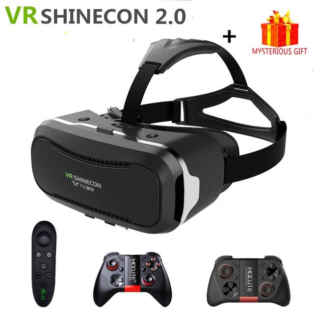 Casque Shinecon 2.0 2 II VR VR 3 D 3D Realidade Virtual Óculos Óculos De Vídeo Fone De Ouvido Smartphone Capacete Inteligente Google papelão
