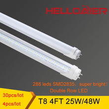 STOCK IN USA Super Bright T8 LED Tube 4ft 1.2m 1200mm T8 LED Tube Lamp Bulbs Lights  25W 28W  SMD2835 LED