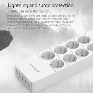 Image 5 - Удлинитель электрический ORICO с защитой от скачков напряжения и 5 USB портами 2,4 А