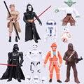 Nueva caliente 4 - 12 cm 9 unids/set Star Wars 7 : la fuerza despierta bb-8 Yoda Darth Vader figura de acción juguetes de regalo navidad