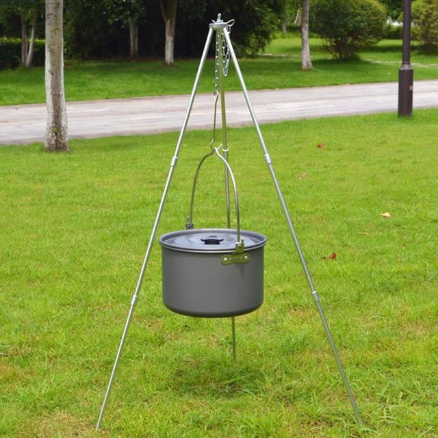 Outdoor Cooking Cooker Pot Aluminum Alloy Hiking Camping Pots 5-8 Marching Picnic Cookers
