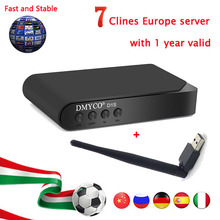 1 Year Europe 7 Clines Server for Spain Italy Germany Poland Portugal Satellite TV Receiver D1S DVB-S2 Receptor Full 1080p HD