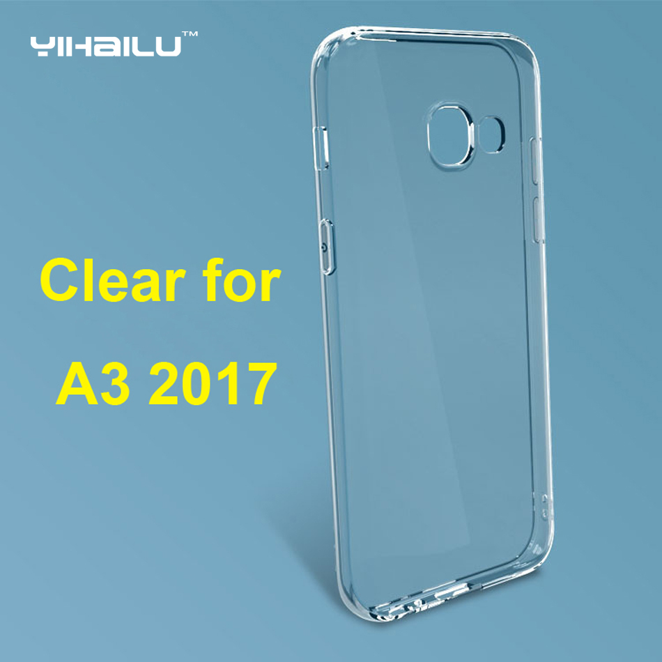 buy online 68248 14203 Case For Samsung Galaxy A3 2017 Soft TPU Case Transparent Silicone Cover  2017 For Samsung Galaxy A3 2017 A320 Slim Phone Cases-in Phone Cases from  ...