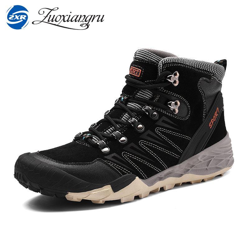 Zuoxiangru New Men Hiking Boots Professional Mountaineering Shoes Waterproof Climbing Boots Outdoor Shoes for Man waterproof hiking shoes for men warm winter hiking boots waterproof snow boots for man outdoor hiking shoes female zapatos