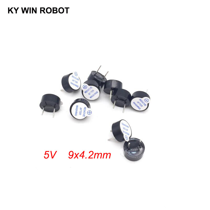 10PCS New Ultra-thin 5V Active Buzzer Alarm AC 9MM*4.2MM 9x4.2MM 0942 MINI Active Piezo Buzzers Fit For Arduino Diy Electro