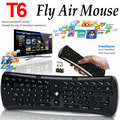 2.4 ГГц 6 Оси Гироскопа Fly Air Mouse Беспроводная Клавиатура T6 Мини-Клавиатура пульт дистанционного Управления VS T3 MX3 I8 для S912 S905 OTG TV Box