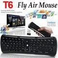 2.4 GHz 6 Eixos Giroscópio T6 Mini Teclado Fly Air Mouse Teclado Sem Fio Controle remoto VS T3 I8 para S912 S905 MX3 OTG TV Box