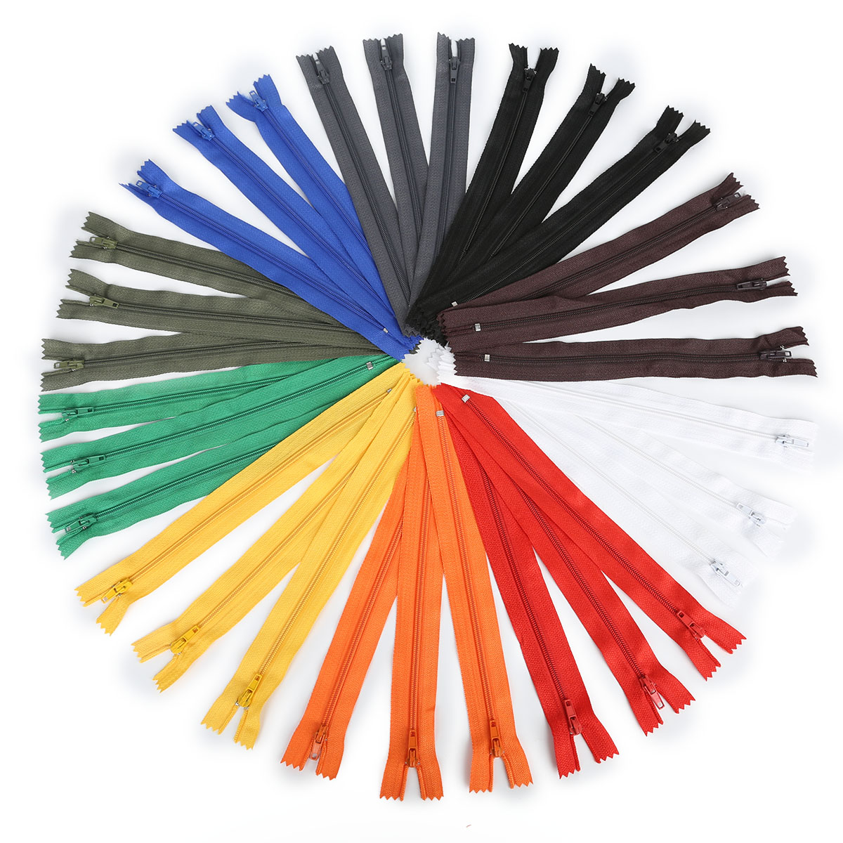 Wholesale Retail 10Pcs/lot High Quality 20cm Length Colorful Nylon Coil Zippers Tailor Garment Sewing Handcraft DIY Accessories