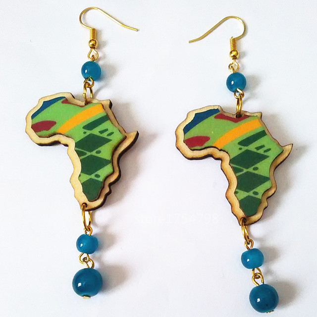 Colorful Carving Wood Earrings