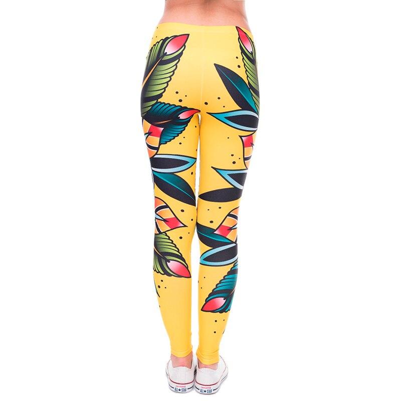 Frauen 3D tattoo blume Leggings Frauen/Mädchen Lustige Dünne Leggings Jeggings Hosen Grundlegende Beiläufige Leggins Weibliche Freie Größe Legg-in Leggings aus Damenbekleidung bei  Gruppe 3
