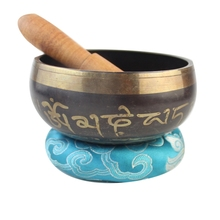 Гималайская чаша для рук декоративная чакра медитация настенные блюда Йога Тибетский буддизм, латунь Поющая чаша
