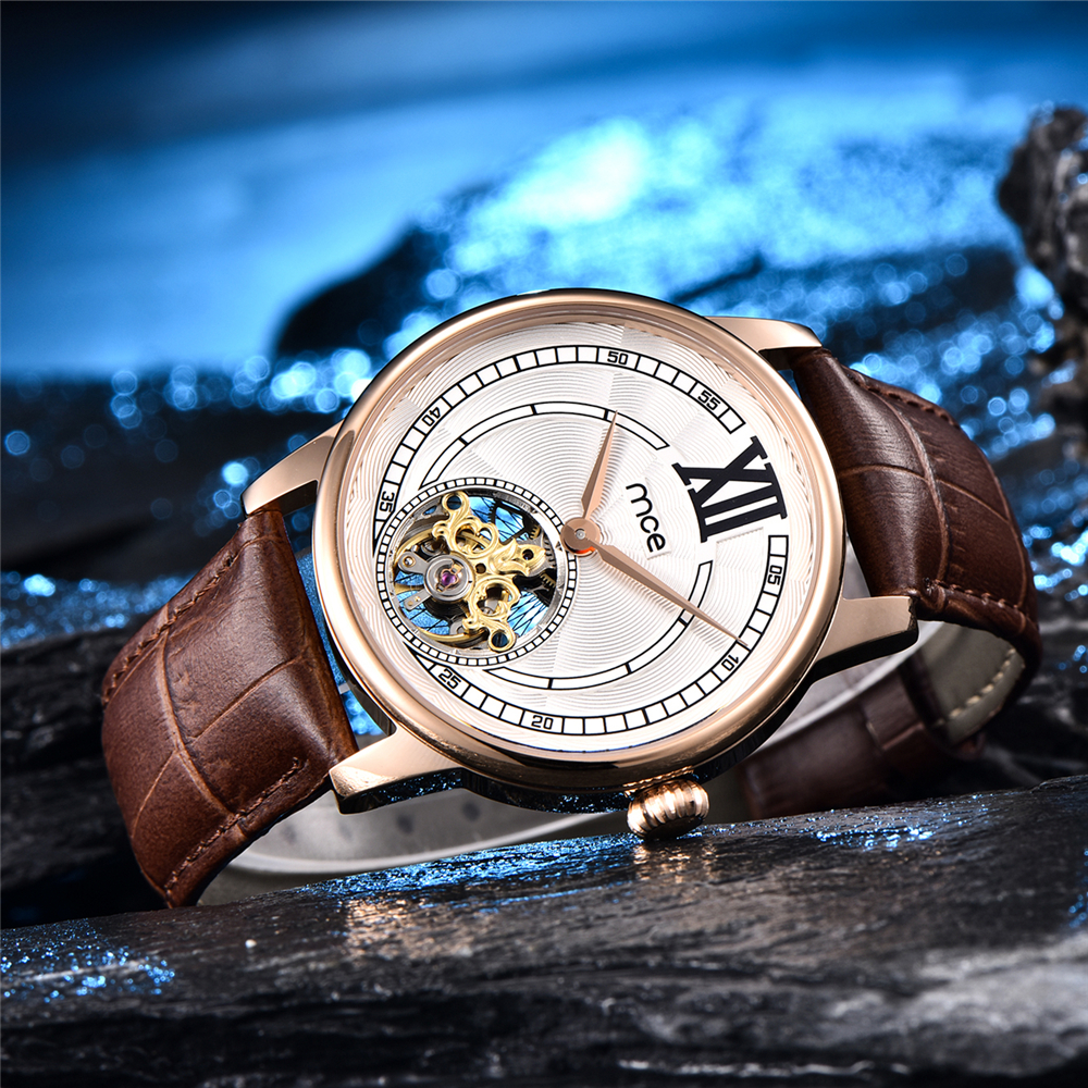Men watch mechanical watch New European and American mens steel business tourbillon waterproof mechanical fashion watch 070182Men watch mechanical watch New European and American mens steel business tourbillon waterproof mechanical fashion watch 070182