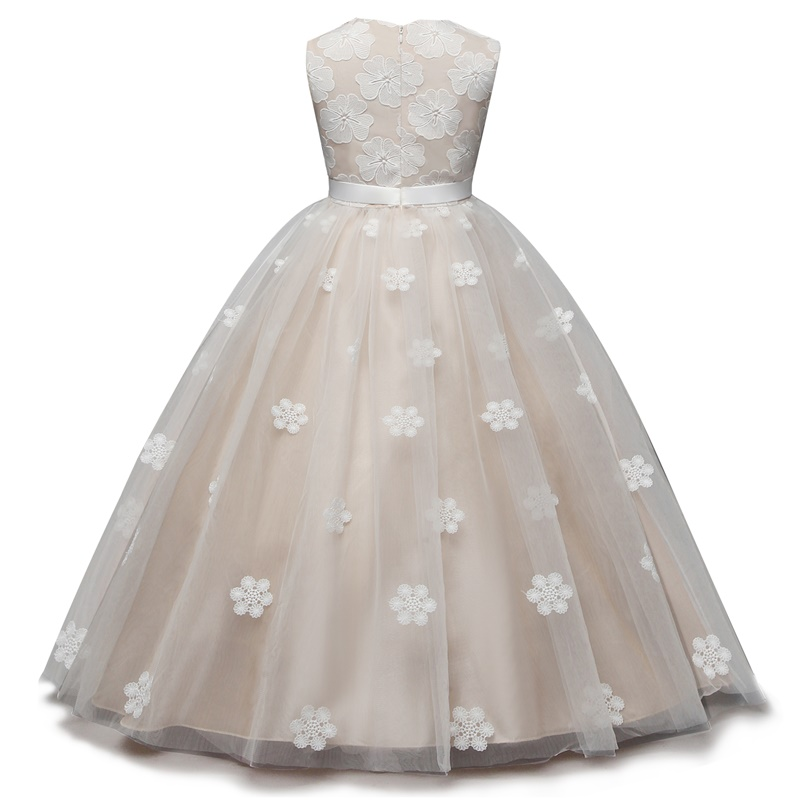 Fancy Champagne Flower Girl Wedding Dress Kids Children Communion ... 79e9ef3235fa