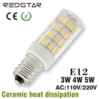 E12 Led Bulb 3W 4W 5W Dimmable Lamps 110V 220V
