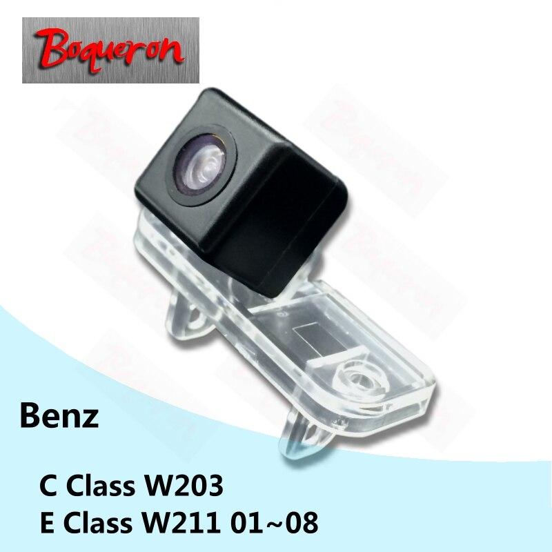 Para mercedes benz classe c w203 e classe w211 01 08 08 hd ccd de visão noturna estacionamento reverso backup câmera visão traseira do carro
