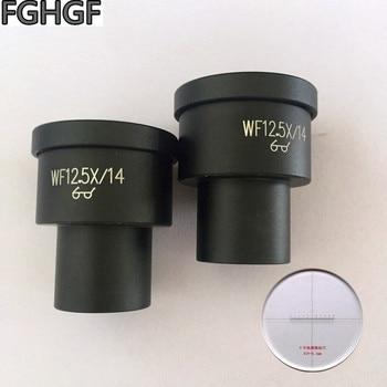 FGHGF WF12.5X Scale Eyepiece Microscope Eyepiece 12.5 Times 23.2mm Interface Tick Mark DIV-0.1mm Microscopic Measurement Lens
