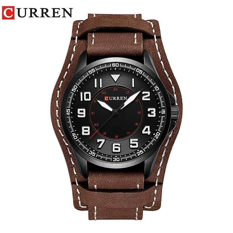 CURREN 8279 Top Brand Luxury watch men New 2017 Fashion Casual Quartz leather wristwatches relogio masculino patons fab big neon orange 8279