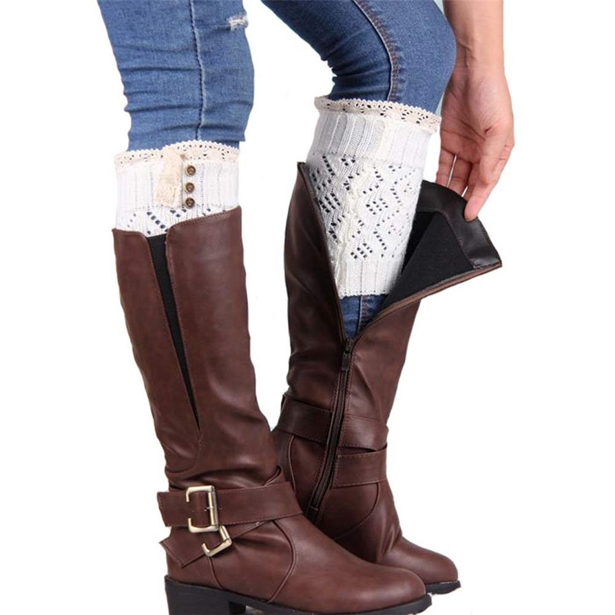 Chamsgend willbeen мягкие Для женщин Кружево стретч загрузки Манжеты загрузки Носки для девочек модные jan19