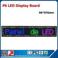 TEEHO P6 Full Color LED Display Module Board Indoor P6 LED Panel 96*576mm Indoor LED Display Sign Scrolling Message