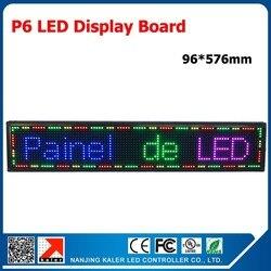TEEHO P6 pełny kolorowy moduł wyświetlacza LED pokładzie kryty P6 Panel LED 96*576mm kryty znak LED przewijanie wiadomość