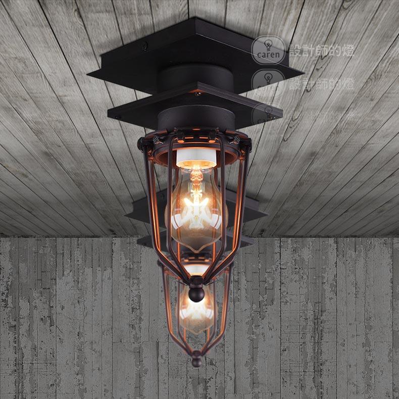 ФОТО American industrial style retro restaurant Edison outdoor bathroom explosion-proof steel ceiling light