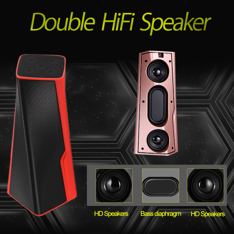 Bluetooth Portable Speaker Subwoofer Wireless Bass FM Radio Outdoor Computer Music Audio Bass Stereo Loud Speaker for Phone PC 2