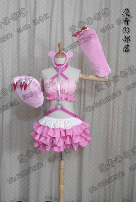 SUPER SONICO GRG Racing Queen Genus Gloomy Bear Cosplay Costume with socks and badge full set