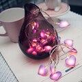 10 светодиодов  20 светодиодов  40 светодиодов  любовь  Сердце  свадьба  светодиодная гирлянда  фонарь  романтическое свадебное событие  вечери...