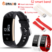 Lemado S2 Bluetooth Smart Band Wristband Heart Rate Monitor IP67 Waterproof Smartband Bracelet For Android IOS Phone Multi strap