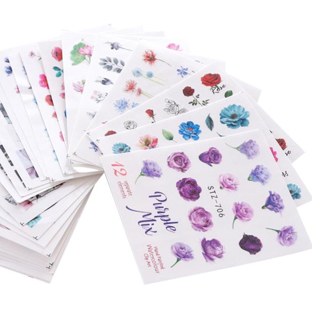 Mixed Design Nail Art Sticker