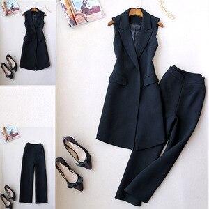 Image 2 - جديد الكورية 2 قطعة مجموعات ملابس النساء sweatsuit للمرأة الملابس مجموعة تويد القطيفة بلون حجم كبير مجموعة ملابس النساء