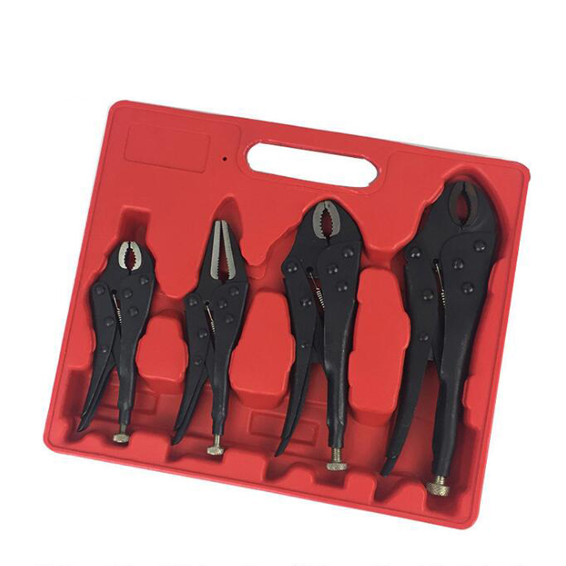 Prostormer 4PC Locking Pliers Curved Jaw Pliers Long Nose Pliers Welding Tools Pliers Set 5