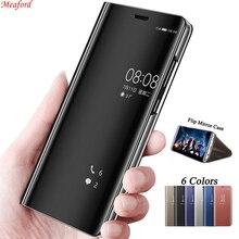 Mirror Flip Case For VIVO Y81 Y85 V9 Case Luxury Plating Smart View Phone Capa Leather Case For VIVO Y85 V11 Cover Coque Funda goowiiz розовое золото vivo y85