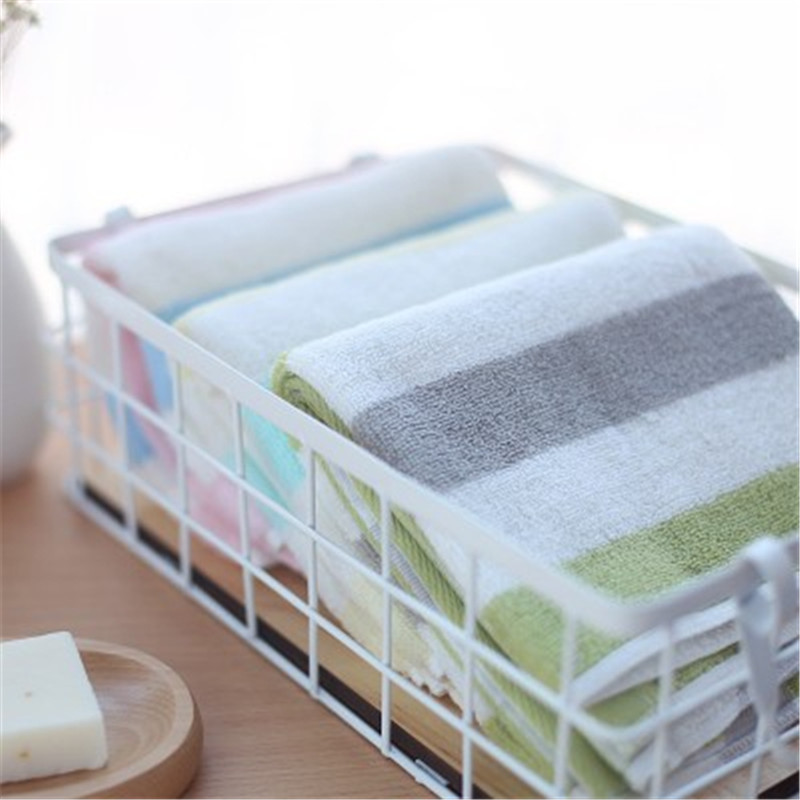 SBB 35 75cm 100 cotton face Towel soft 32 strands of cotton Color collision striped towel facecloth Wholesale gift face towel in Face Towels from Home Garden