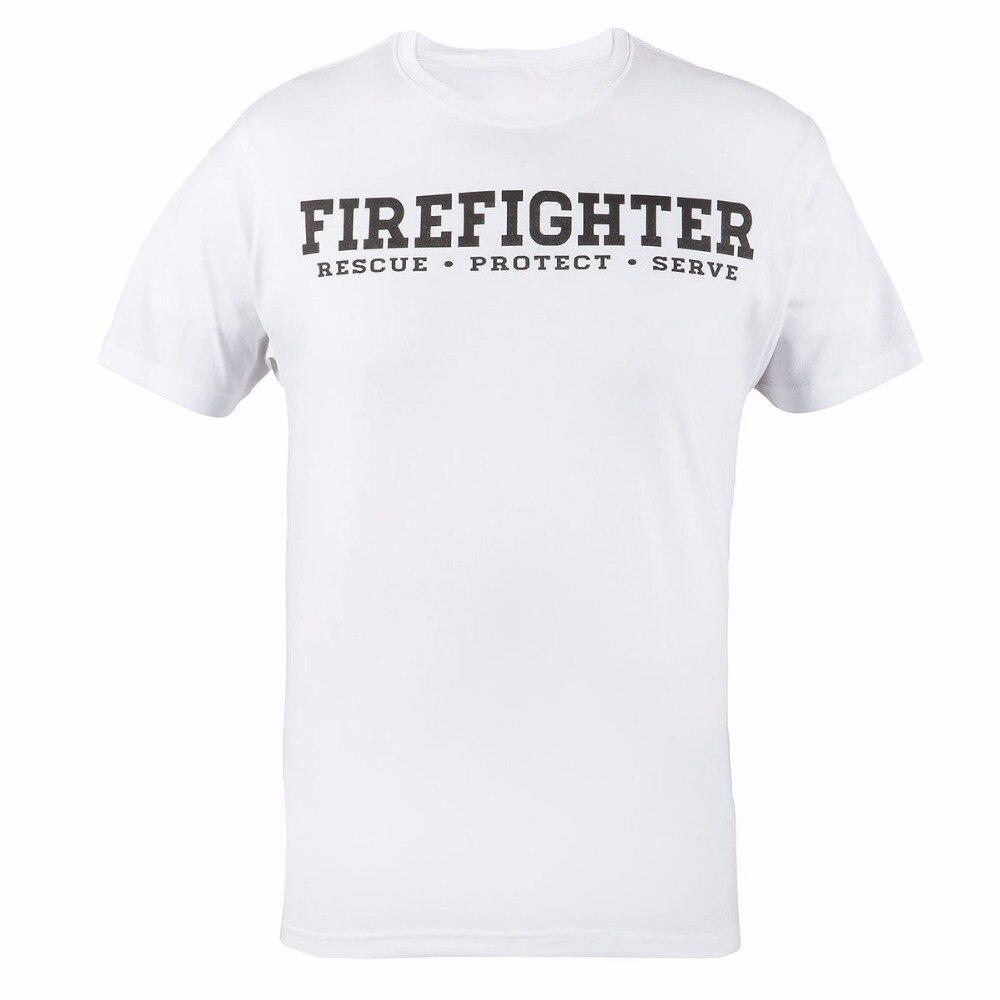 T Shirt 2018 Fashion Men Fashion Design Free Shipping Firefighter T