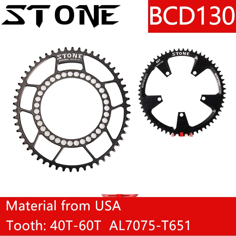 Stone Chainring 130 BCD for sram red rotor shimano 5700 6700 Oval Round 38 40 42