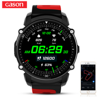 GASON E200 Smart Watch GPS Smartwatch IP68 Waterproof Color Screen Heart Rate Monitor Bluetooth4.0 Phone Multiple Sport