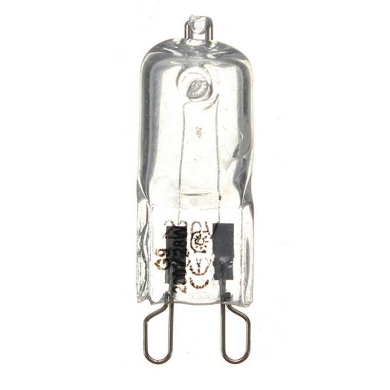 1pcs G9 Halogen Lamp 230V Light Bulb Energy Efficient Lamp Warm White Frosted/Clear Lamp Bulb High Brightness Lighting 3000K 28W