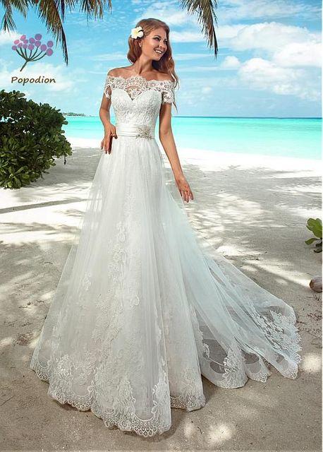 Brautkleider Strand Mermaid Brautkleider Elegante Spitze off die ...