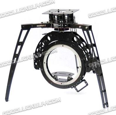 HY-120 Three-axis Synchronous Belt Drive Glass Fiber Pan/Tilt Camera Mount PTZ for FPV